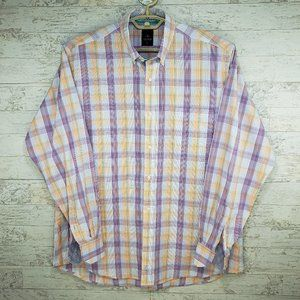 TailorByrd Contrast Cuff Button Up Shirt